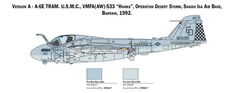 A-6E TRAM Intruder - 1/72 - Italeri 1392  - BLIMPS COMÉRCIO ELETRÔNICO