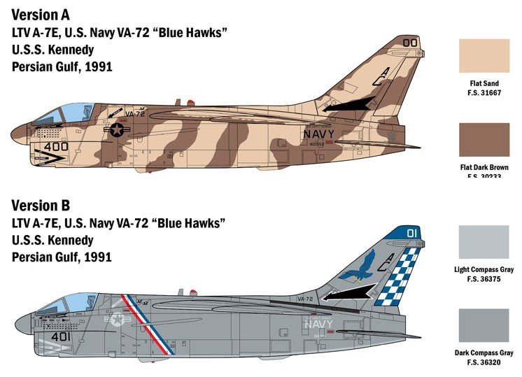 A-7E Corsair II - 1/48 - Italeri 2797  - BLIMPS COMÉRCIO ELETRÔNICO