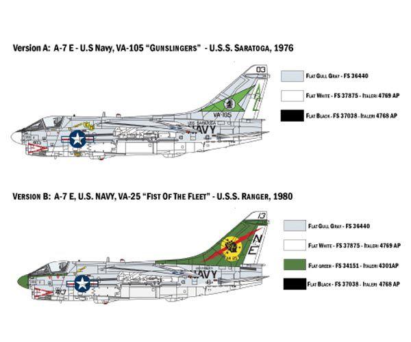 A-7E Corsair II - 1/72 - Italeri 1411  - BLIMPS COMÉRCIO ELETRÔNICO