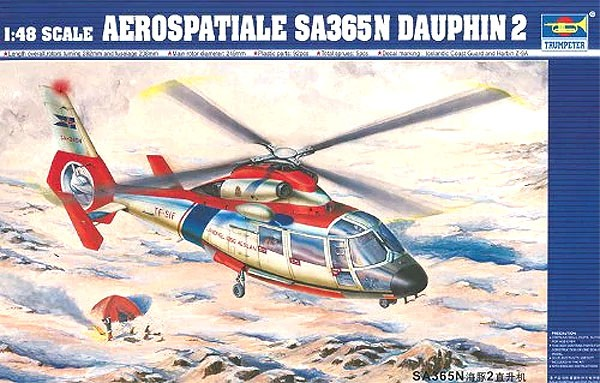 Aerospatiale SA365N Dauphin 2 - 1/48 - Trumpeter 02816  - BLIMPS COMÉRCIO ELETRÔNICO