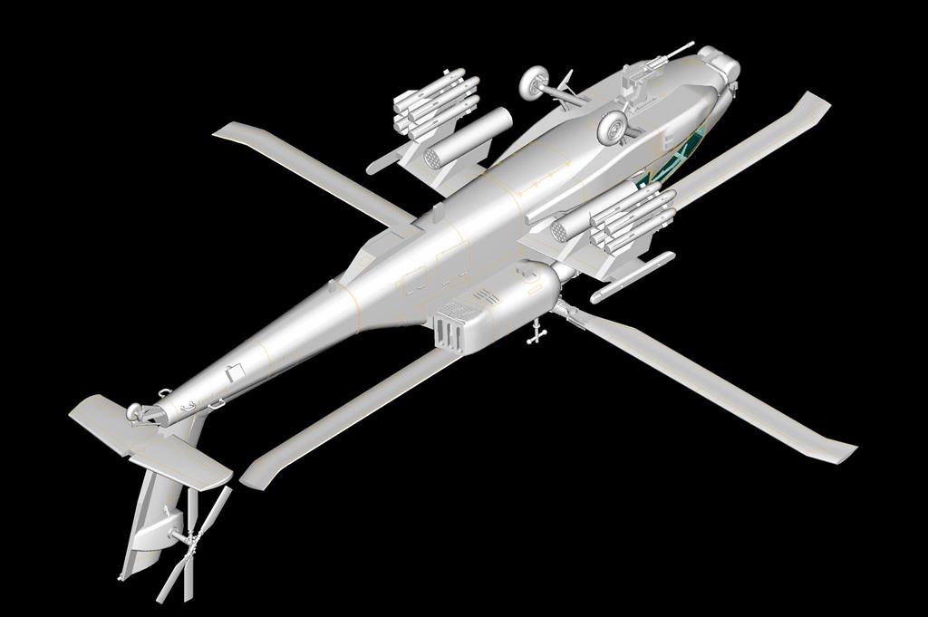 AH-64A Apache - 1/72 - HobbyBoss 87218  - BLIMPS COMÉRCIO ELETRÔNICO