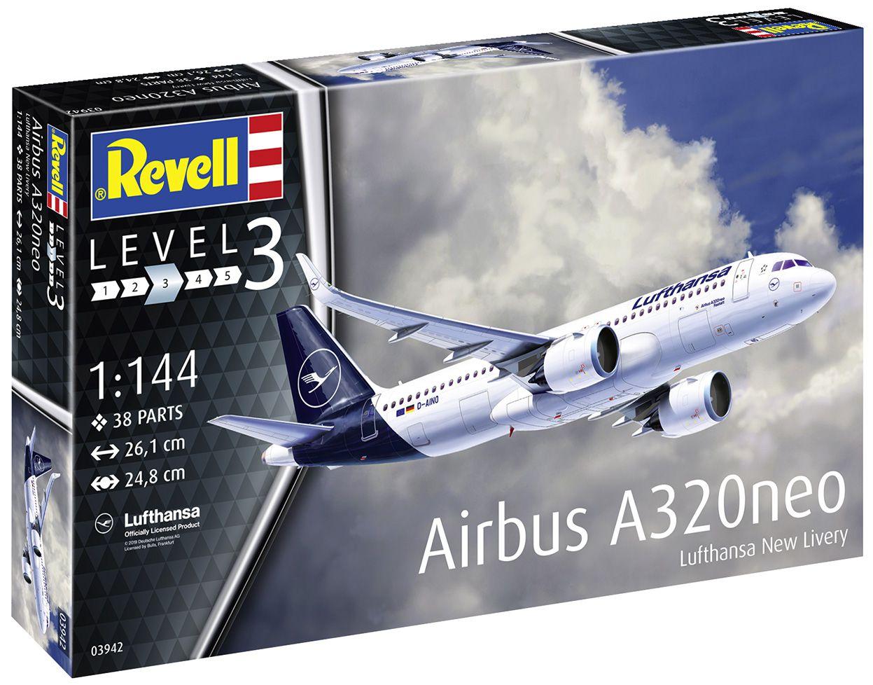 Airbus A320neo Lufthansa New Livery - 1/144 - Revell 03942  - BLIMPS COMÉRCIO ELETRÔNICO