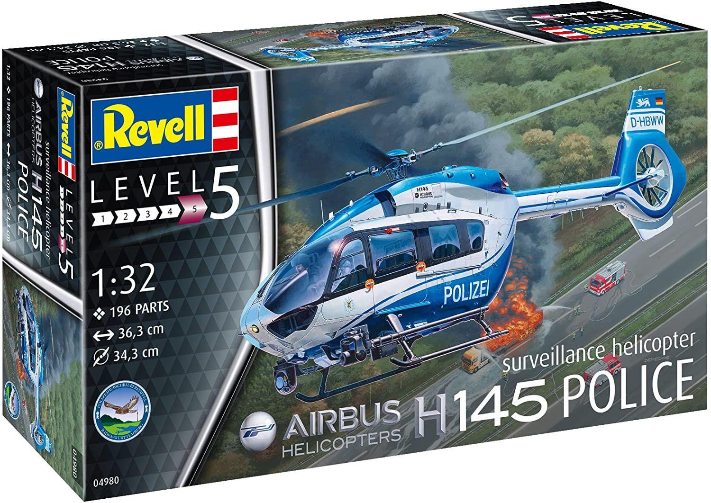 Airbus H145 Police - 1/32 - Revell 04980  - BLIMPS COMÉRCIO ELETRÔNICO