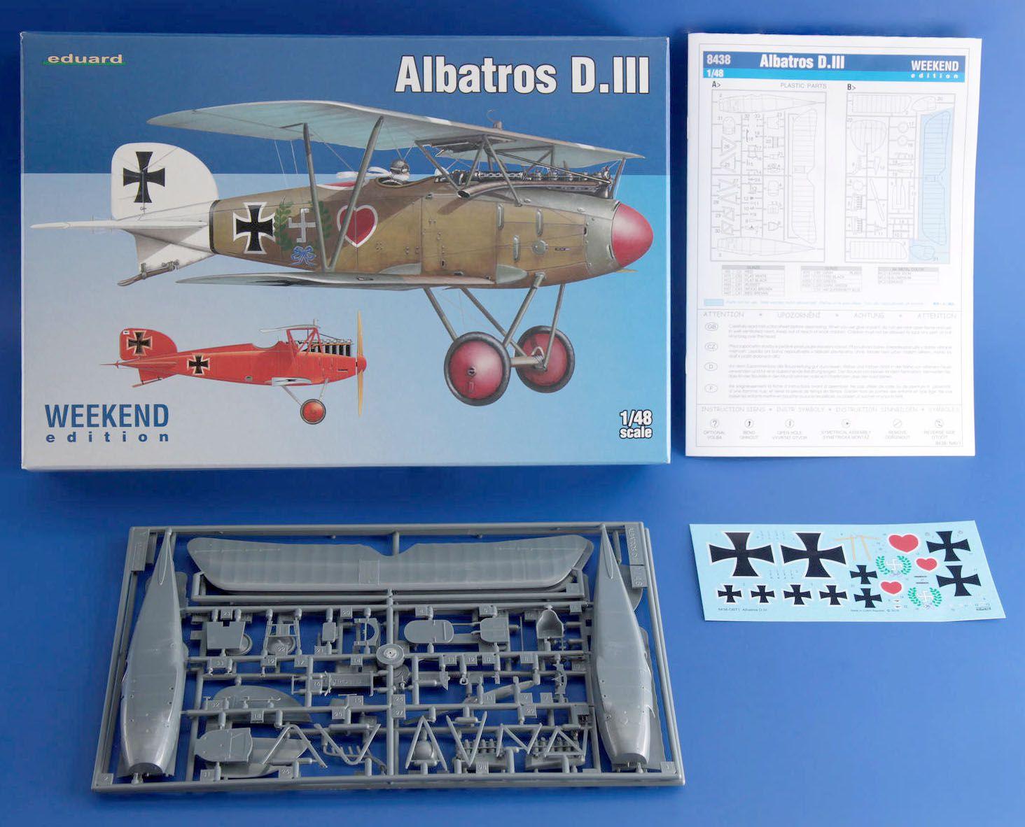 Albatros D.III - 1/48 - Eduard 8438  - BLIMPS COMÉRCIO ELETRÔNICO