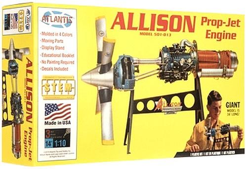 Allison Prop Jet 501-D13 Engine - 1/10 - Atlantis H1551  - BLIMPS COMÉRCIO ELETRÔNICO