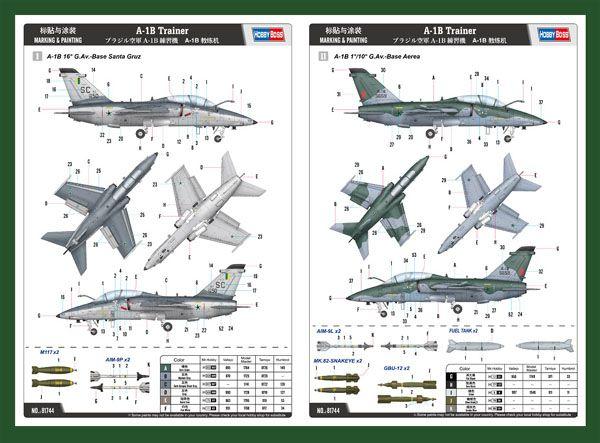 AMX A-1B Trainer - 1/48 - HobbyBoss 81744  - BLIMPS COMÉRCIO ELETRÔNICO