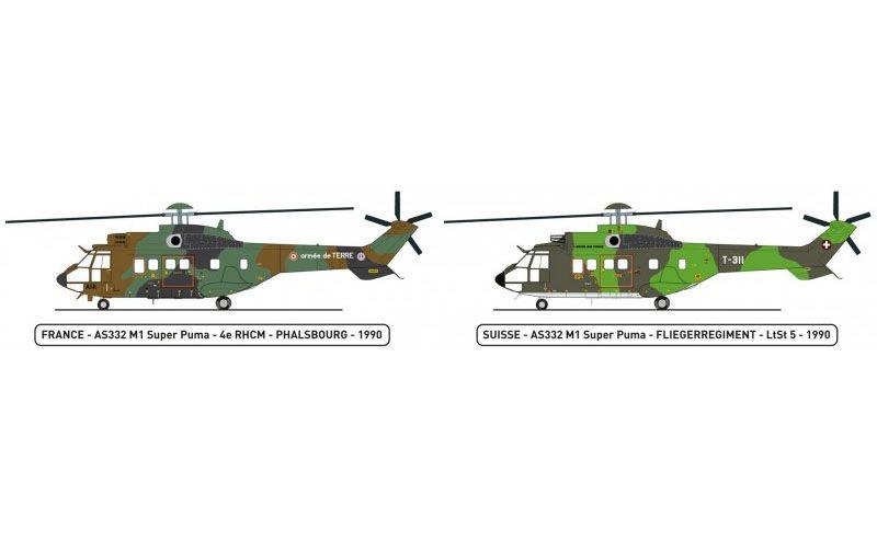 AS332 M1 Super Puma - 1/72 - Heller 80367  - BLIMPS COMÉRCIO ELETRÔNICO
