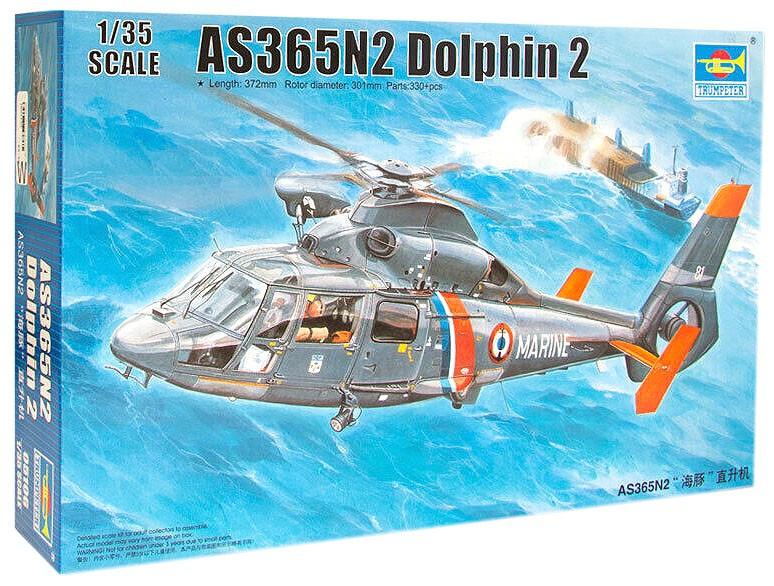 AS365N2 Dolphin 2 - 1/35 - Trumpeter 05106  - BLIMPS COMÉRCIO ELETRÔNICO