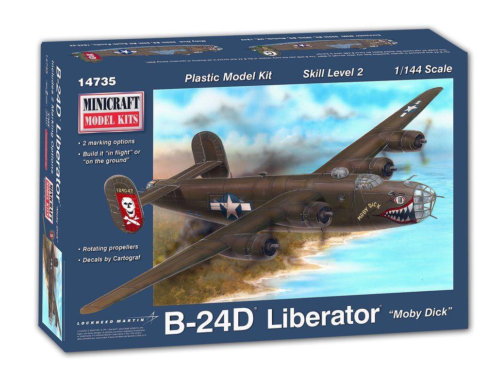 "B-24D Liberator ""Moby Dick"" - 1/144 - Minicraft 14735  - BLIMPS COMÉRCIO ELETRÔNICO"