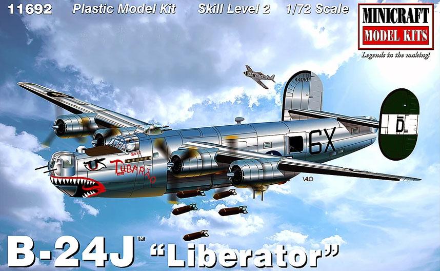 "B-24J ""Liberator"" - 1/72 - Minicraft 11692  - BLIMPS COMÉRCIO ELETRÔNICO"
