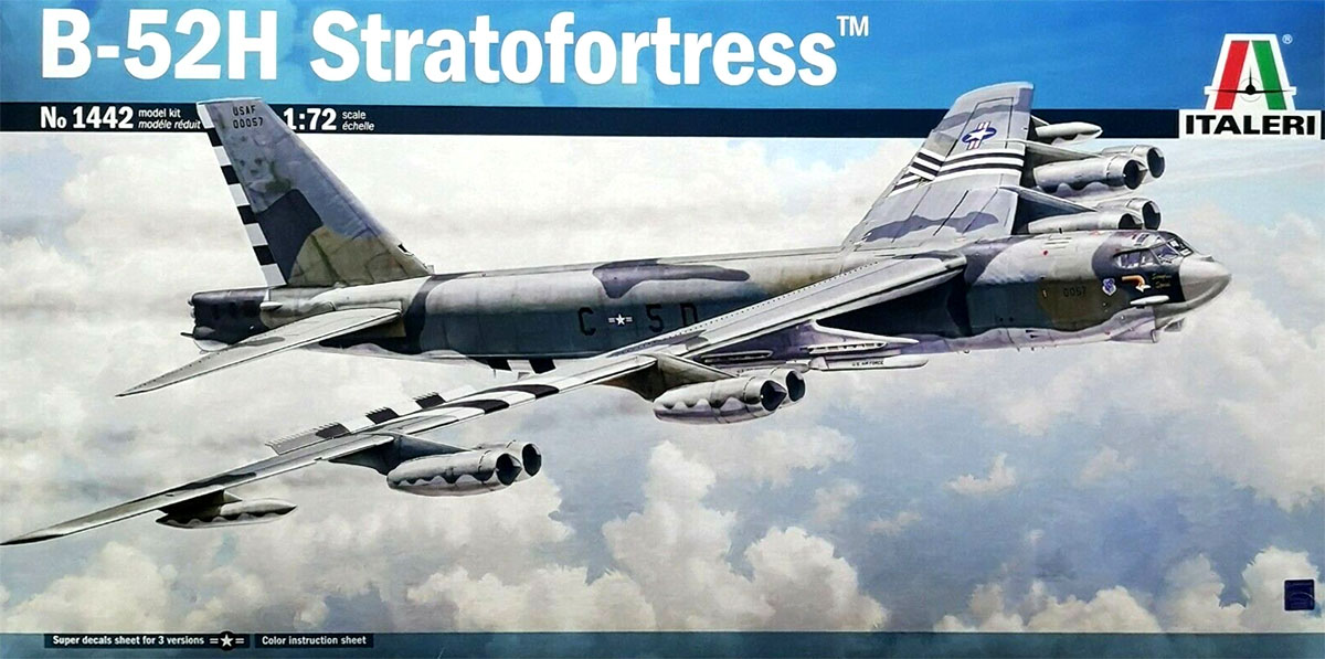 B-52H Stratofortress - 1/72 - Italeri 1442  - BLIMPS COMÉRCIO ELETRÔNICO