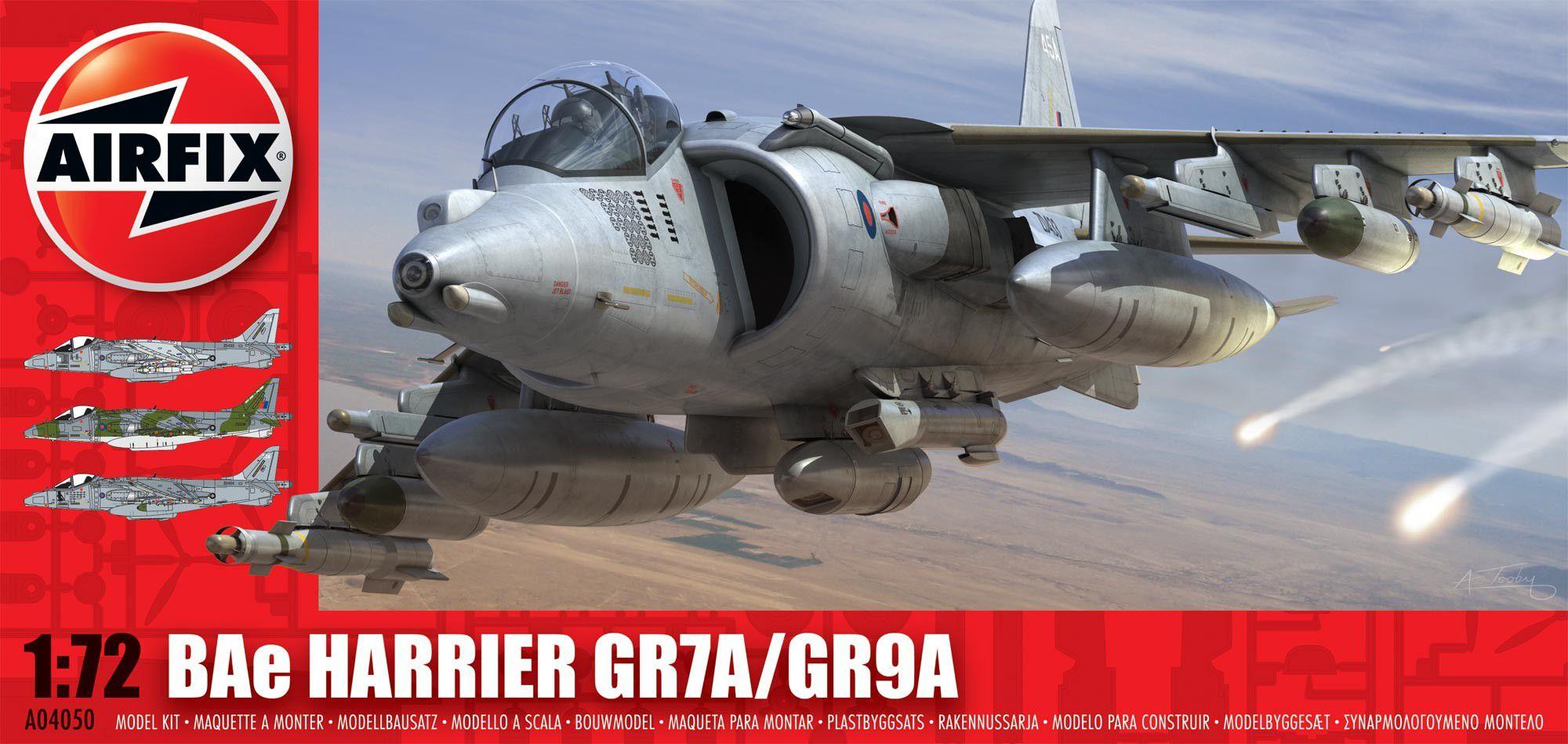 BAe Harrier GR7A/GR9A - 1/72 - Airfix A04050  - BLIMPS COMÉRCIO ELETRÔNICO