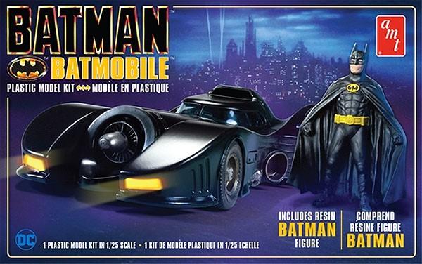 Batmóvel 1989 com figura de resina - 1/25 - AMT 1107M  - BLIMPS COMÉRCIO ELETRÔNICO