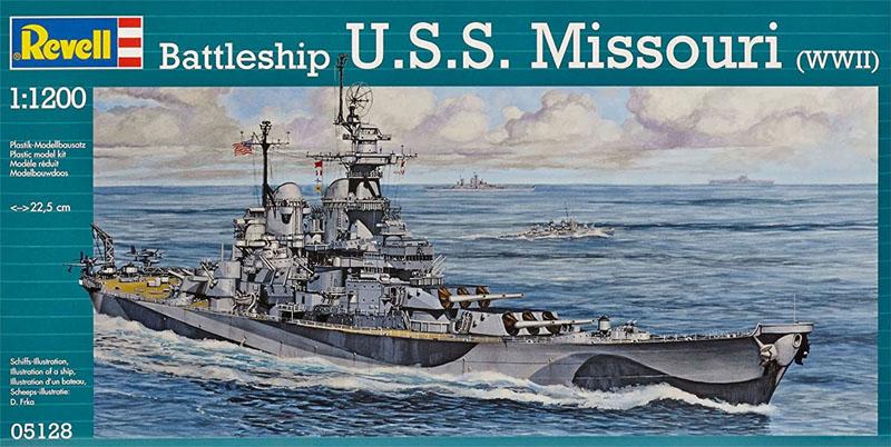 Battleship U.S.S. Missouri (WWII) - 1/1200 - Revell 05128  - BLIMPS COMÉRCIO ELETRÔNICO