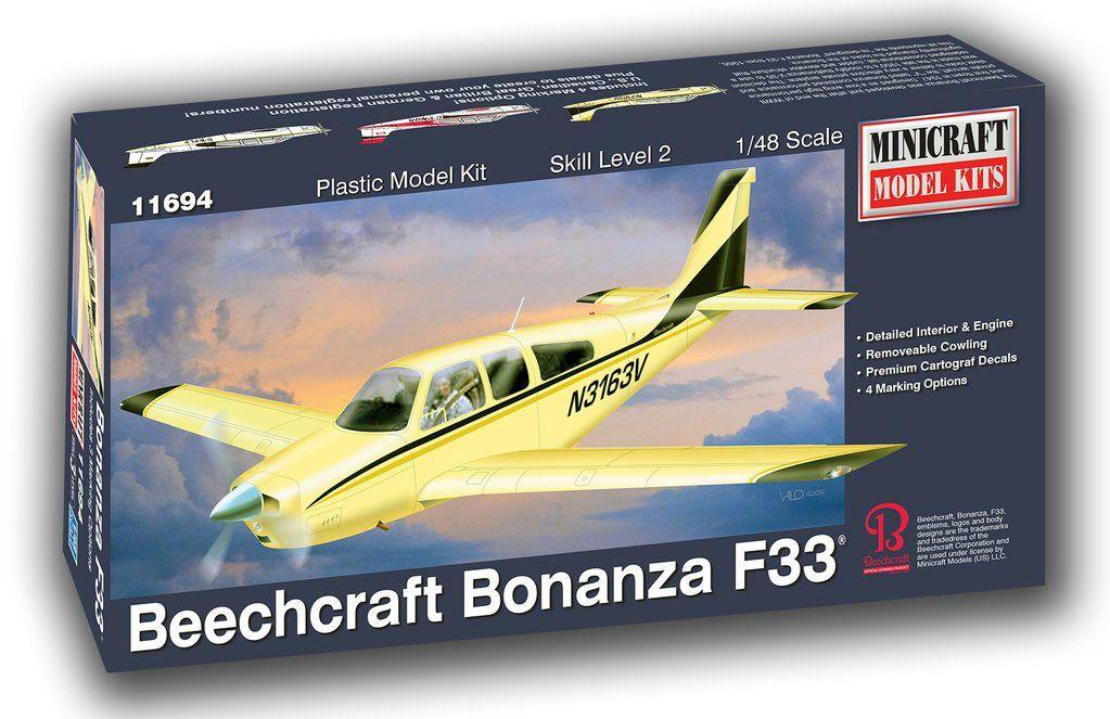 Beechcraft Bonanza F33 - 1/48 - Minicraft 11694  - BLIMPS COMÉRCIO ELETRÔNICO