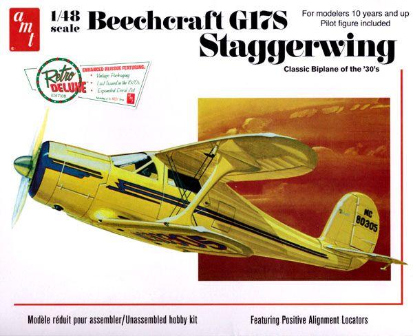 Beechcraft G17S Staggerwing - 1/48 - AMT 886  - BLIMPS COMÉRCIO ELETRÔNICO