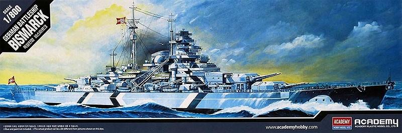 Bismarck - 1/800 - Academy 14218  - BLIMPS COMÉRCIO ELETRÔNICO