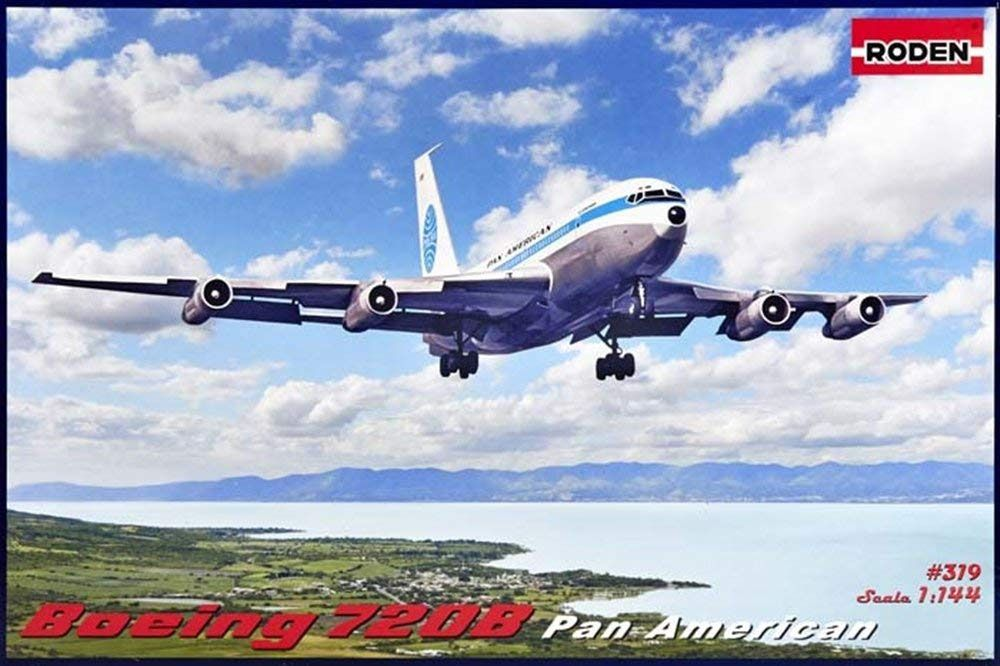 Boeing 720B Pan American - 1/144 - Roden 319  - BLIMPS COMÉRCIO ELETRÔNICO