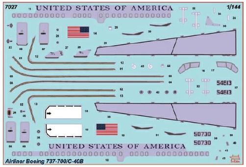 Boeing 737-700/C-40B - 1/144 - Zvezda 7027  - BLIMPS COMÉRCIO ELETRÔNICO