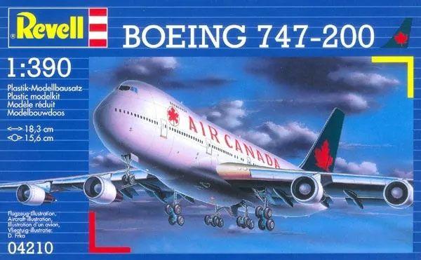 Boeing 747-200 Air Canada - 1/390 - Revell 04210  - BLIMPS COMÉRCIO ELETRÔNICO