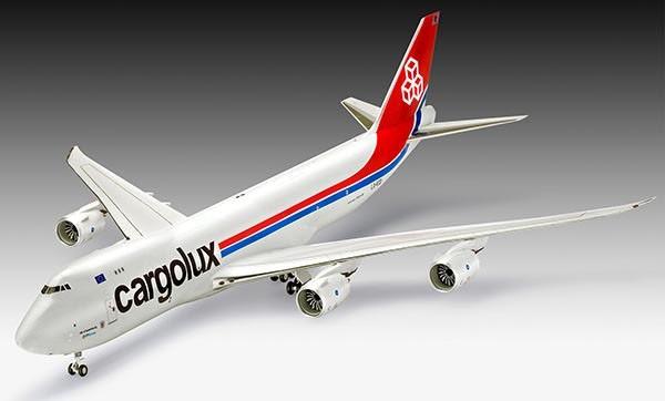 Boeing 747-8F Cargolux - 1/144 - Revell 04885  - BLIMPS COMÉRCIO ELETRÔNICO
