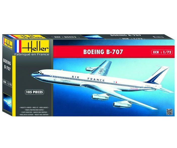 Boeing B-707 Air France - 1/72 - Heller 80452  - BLIMPS COMÉRCIO ELETRÔNICO