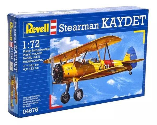 Boeing Stearman Kaydet - 1/72 - Revell 04676  - BLIMPS COMÉRCIO ELETRÔNICO