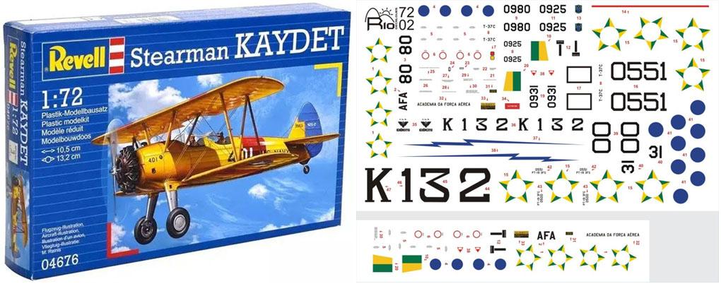 Boeing Stearman Kaydet - 1/72 - Revell 04676 com decalques Exército Brasileiro  - BLIMPS COMÉRCIO ELETRÔNICO