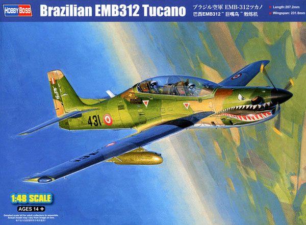 Brazilian EMB-312 Tucano - 1/48 - HobbyBoss 81763  - BLIMPS COMÉRCIO ELETRÔNICO