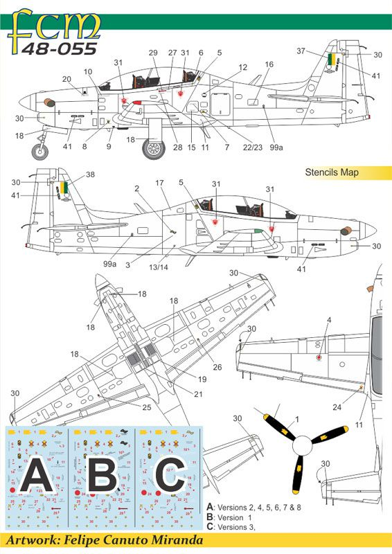 EMB-312 Tucano - 1/48 - HobbyBoss 81763 com decalques FAB  - BLIMPS COMÉRCIO ELETRÔNICO