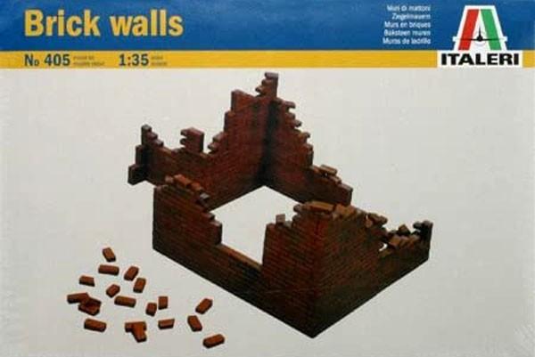 Brick Walls - Paredes de tijolos - WWII - 1/35 - Italeri 405  - BLIMPS COMÉRCIO ELETRÔNICO
