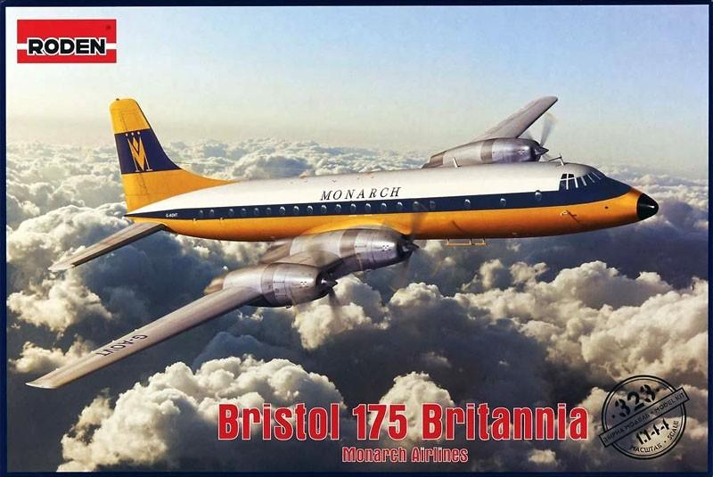 Bristol 175 Britannia (Monarch Airlines) - 1/144 - Roden 323  - BLIMPS COMÉRCIO ELETRÔNICO