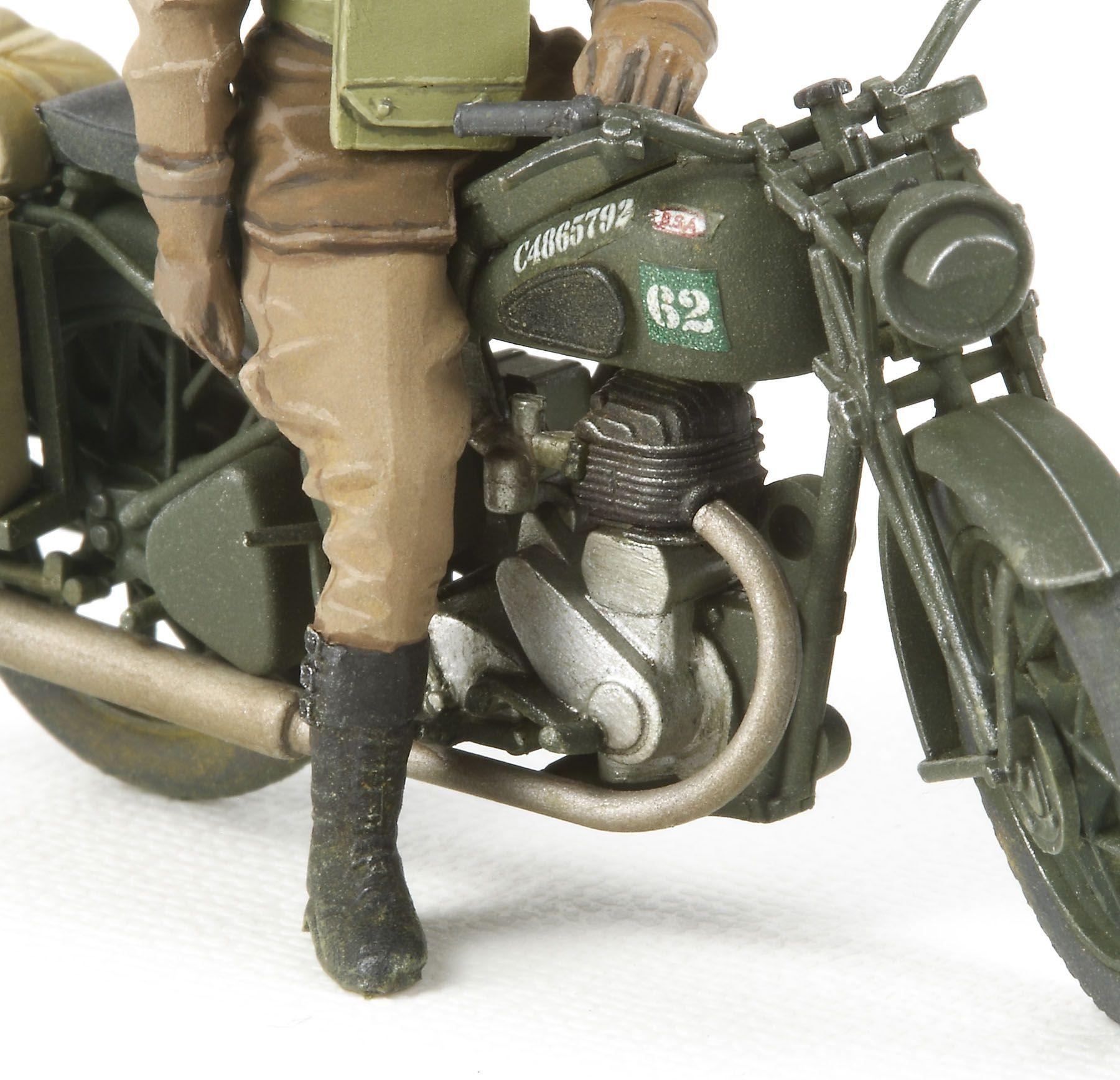 British BSA M20 Motorcycle with Military Police set - 1/35 - Tamiya 35316  - BLIMPS COMÉRCIO ELETRÔNICO