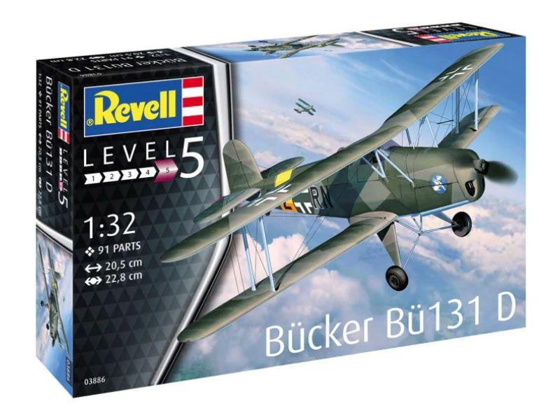 Bücker Bü-131D Jungmann - 1/32 - Revell 03886  - BLIMPS COMÉRCIO ELETRÔNICO