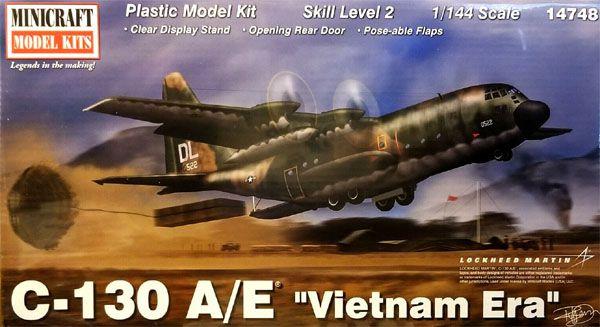 """C-130 A/E """"Vietnam Era"""" - 1/144 - Minicraft 14748  - BLIMPS COMÉRCIO ELETRÔNICO"""