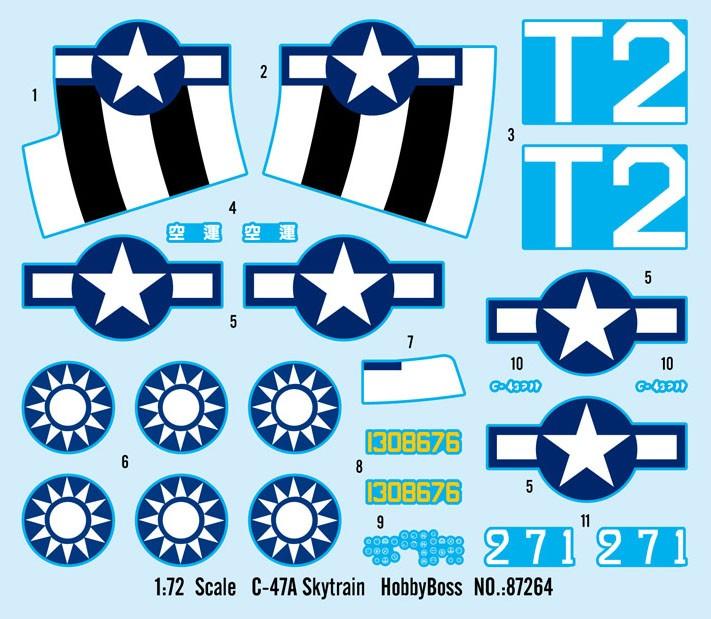 C-47A Skytrain - 1/72 - HobbyBoss 87264  - BLIMPS COMÉRCIO ELETRÔNICO
