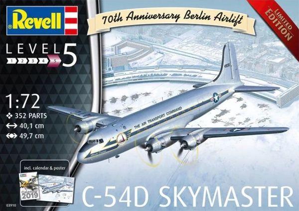 C-54D Skymaster Berlin Airlift - 1/72 - Revell 03910  - BLIMPS COMÉRCIO ELETRÔNICO