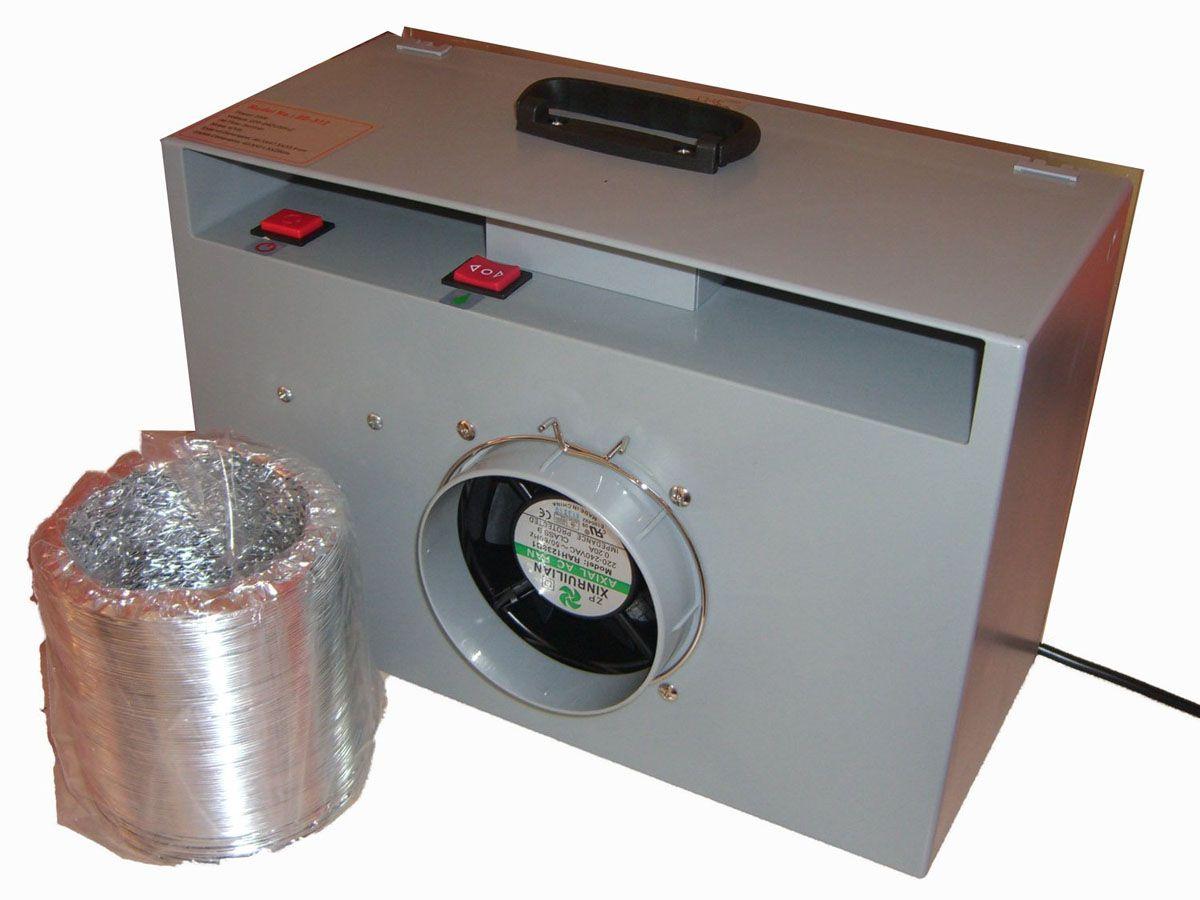 Cabine de pintura com exaustor, mesa giratória, luz e filtro - Fengda BD-512  - BLIMPS COMÉRCIO ELETRÔNICO