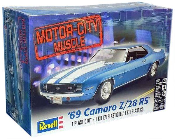 Camaro Z/28 RS 1969 - 1/25 - Revell 85-7457  - BLIMPS COMÉRCIO ELETRÔNICO