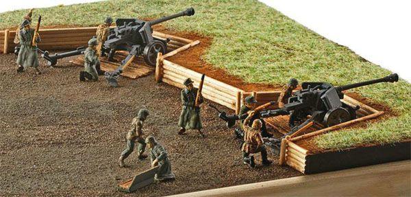 Canhão anti-tanque PaK 40 7,5 cm e figuras de soldados - 1/72 - Revell 02531  - BLIMPS COMÉRCIO ELETRÔNICO