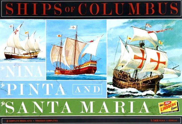 Caravelas de Colombo (Santa Maria, Pinta e Nina) - 1/144 - Lindberg HL223  - BLIMPS COMÉRCIO ELETRÔNICO