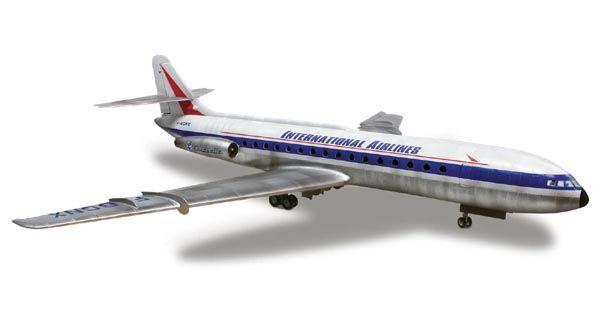 Caravelle French Airliner - 1/96 - Lindberg HL513  - BLIMPS COMÉRCIO ELETRÔNICO