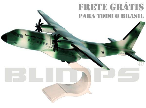 Maquete CASA C295 (C-105 Amazonas) FAB - 34 cm  - BLIMPS COMÉRCIO ELETRÔNICO