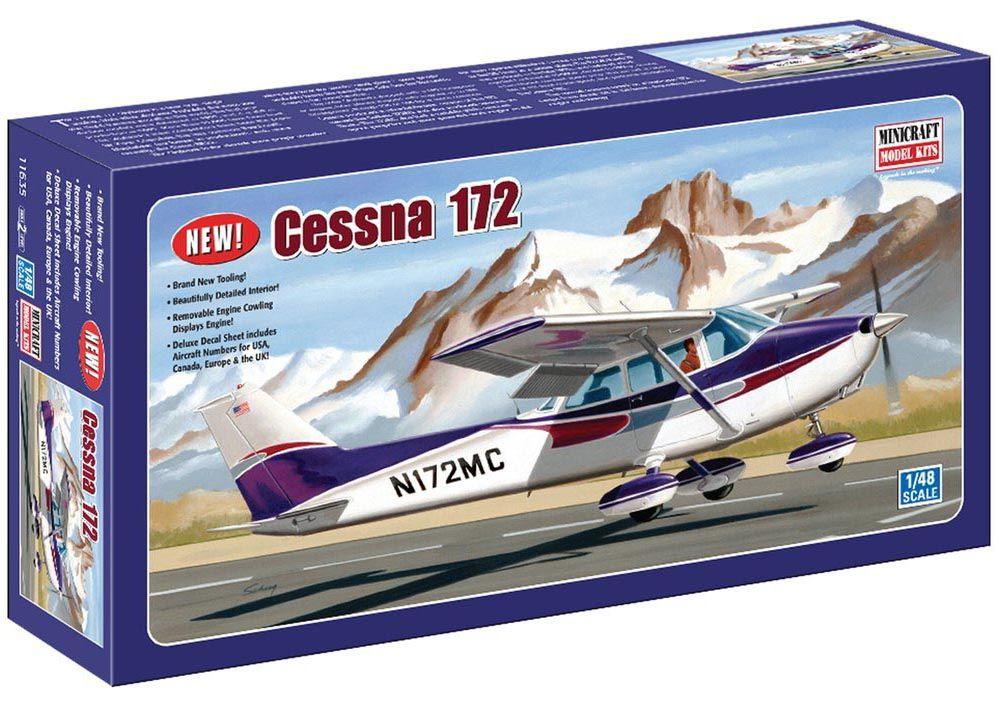 Cessna 172 - 1/48 - Minicraft 11635  - BLIMPS COMÉRCIO ELETRÔNICO