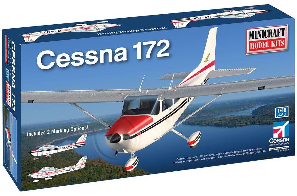 Cessna 172 Skyhawk - 1/48 - Minicraft 11686  - BLIMPS COMÉRCIO ELETRÔNICO