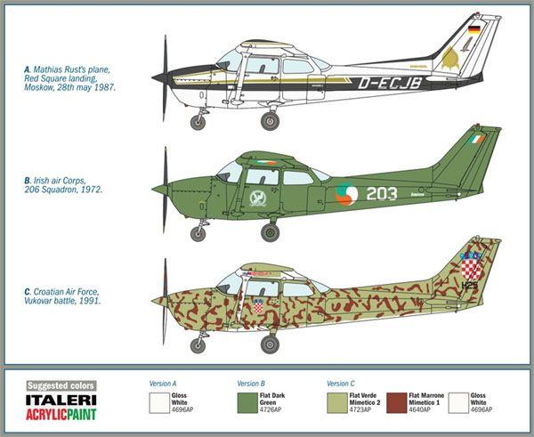 Cessna 172 Skyhawk - Pouso da Praça Vermelha em 1987 - 1/48 - Italeri 2764  - BLIMPS COMÉRCIO ELETRÔNICO
