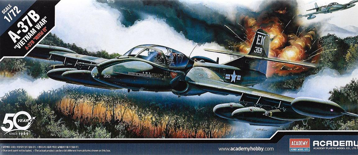 Cessna A-37B - 1/72 - Academy 12461  - BLIMPS COMÉRCIO ELETRÔNICO