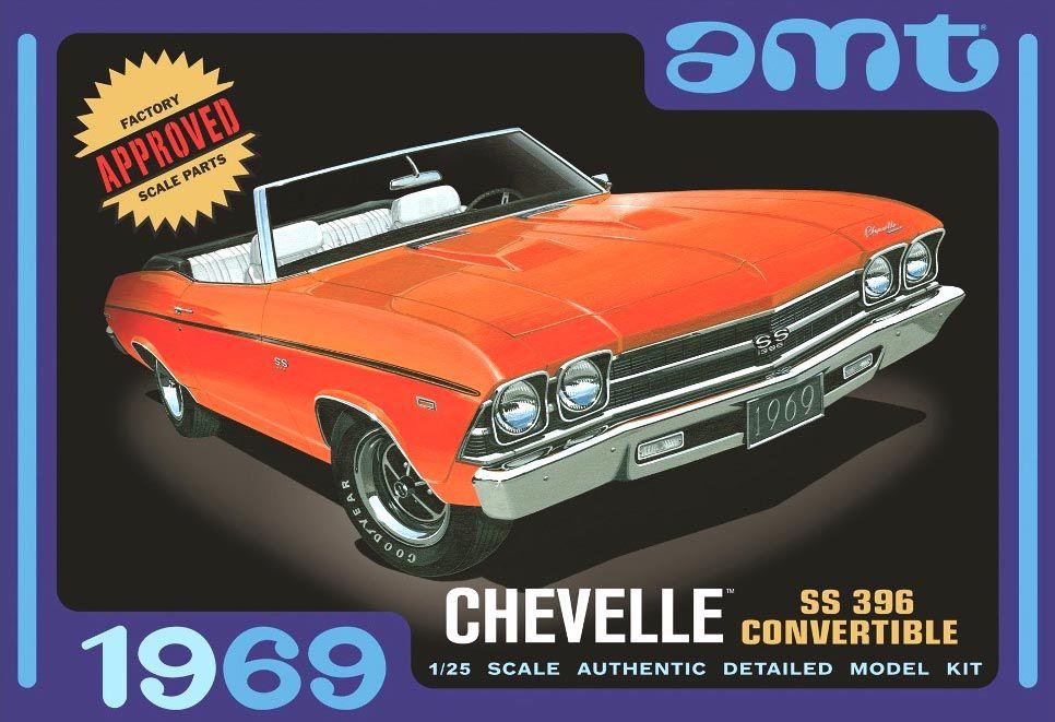Chevelle SS 396 Convertible 1969 - 1/25 - AMT 823  - BLIMPS COMÉRCIO ELETRÔNICO