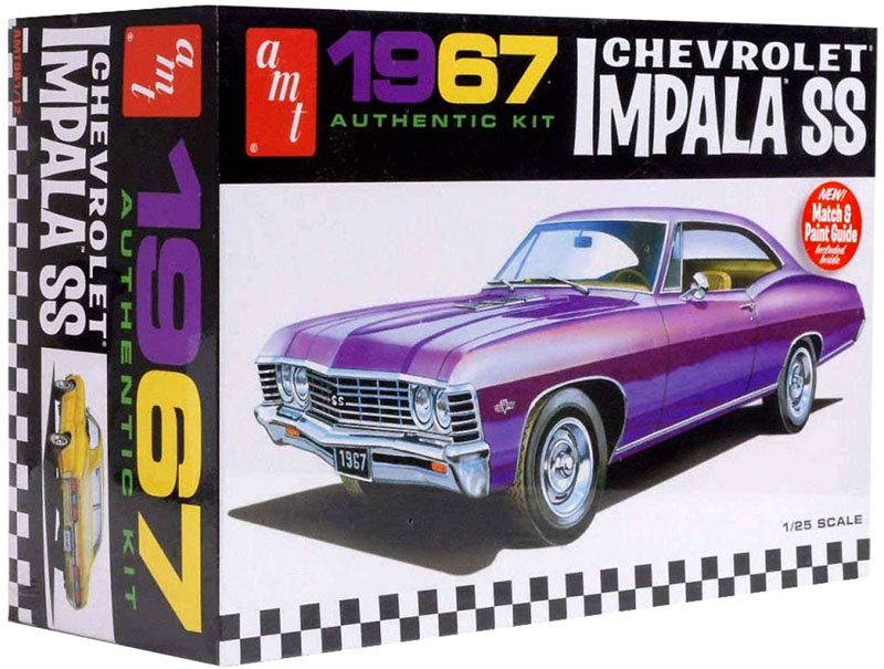 Chevrolet Impala SS 1967 - 1/25 - AMT 981M  - BLIMPS COMÉRCIO ELETRÔNICO