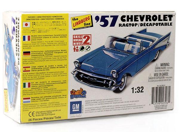 Chevrolet Ragtop 1957 - 1/32 - Lindberg HL105  - BLIMPS COMÉRCIO ELETRÔNICO